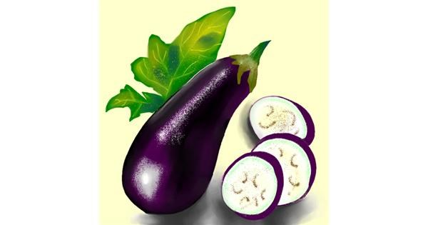 Eggplant drawing by Namie