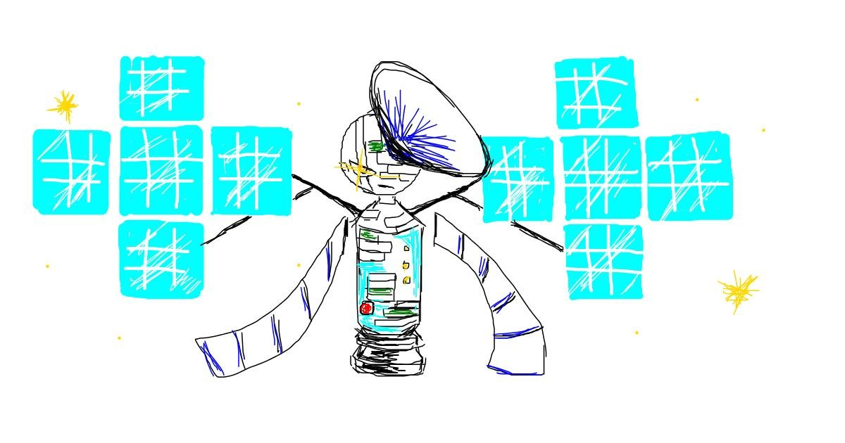 Satellite drawing by PTLS