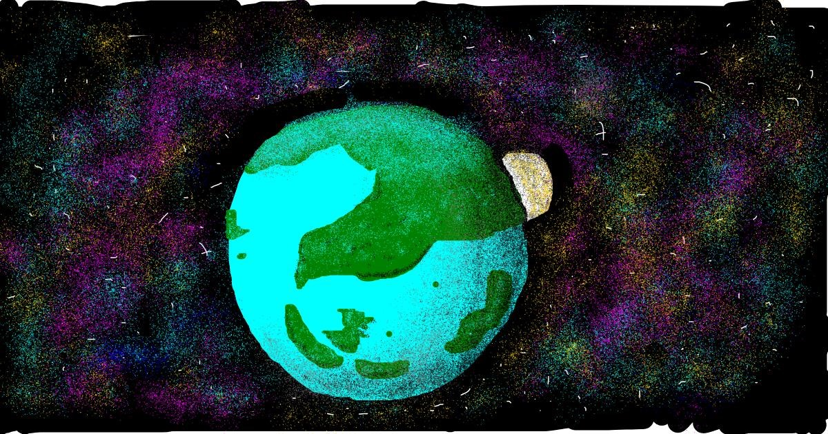 Planet drawing by polidoll