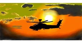 helicopter drawing by Calaverita