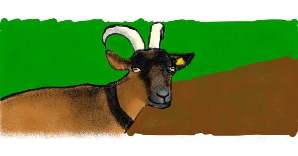 Goat drawing by purple you💜BTSXARMY💜지민💜