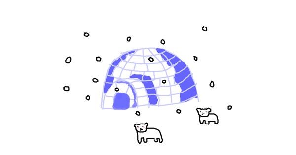 Igloo drawing by lola
