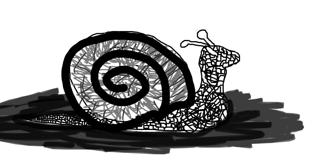 Snail drawing by jerky
