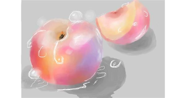 Peach drawing by 𝐓𝐎𝐏𝑅𝑂𝐴𝐶𝐻™