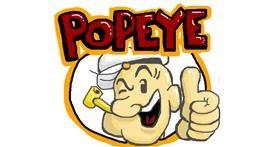 Popeye drawing by bjorn