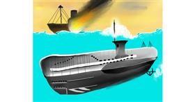 Submarine drawing by Mitzi