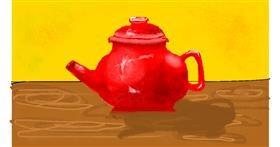 Teapot drawing by pajama