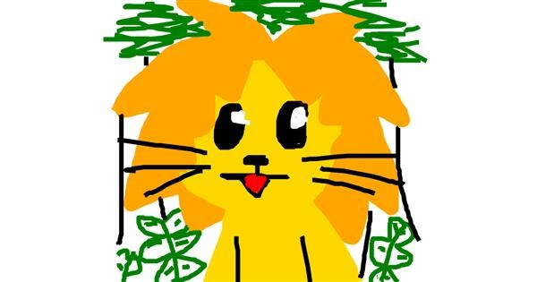 Lion drawing by des