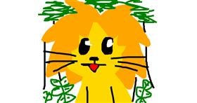 Drawing of Lion by des