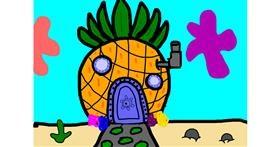 Pineapple drawing by Mackanilla
