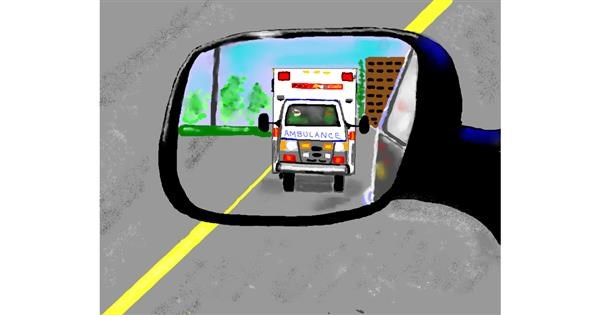 Ambulance drawing by Cec