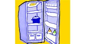 Drawing of Refrigerator by Cherri