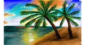 Drawing of Palm tree by Soaring Sunshine