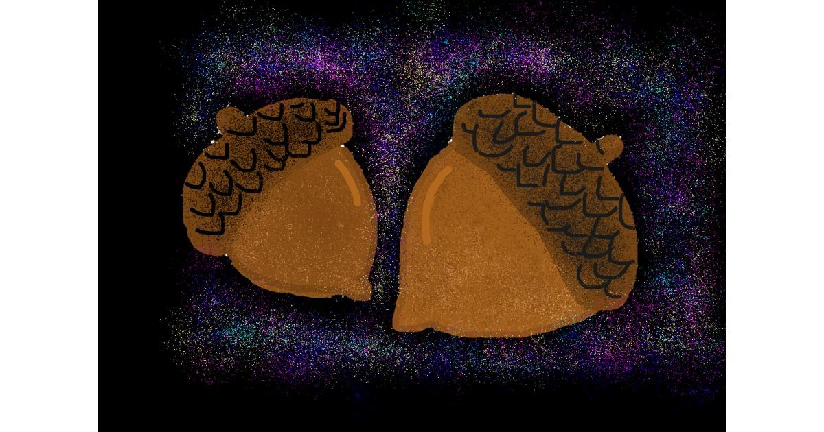 Acorn drawing by Bigoldmanwithglasses