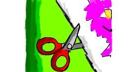 Scissors drawing by Data