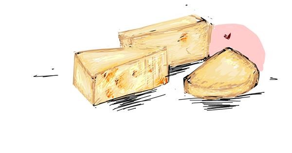 Cheese drawing by ARMY