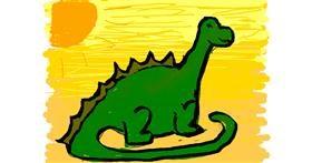 Dinosaur drawing by Lovelybones