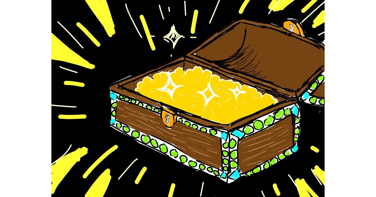 Drawing of Treasure chest by Lolo