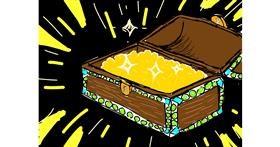 Treasure chest drawing by Lolo