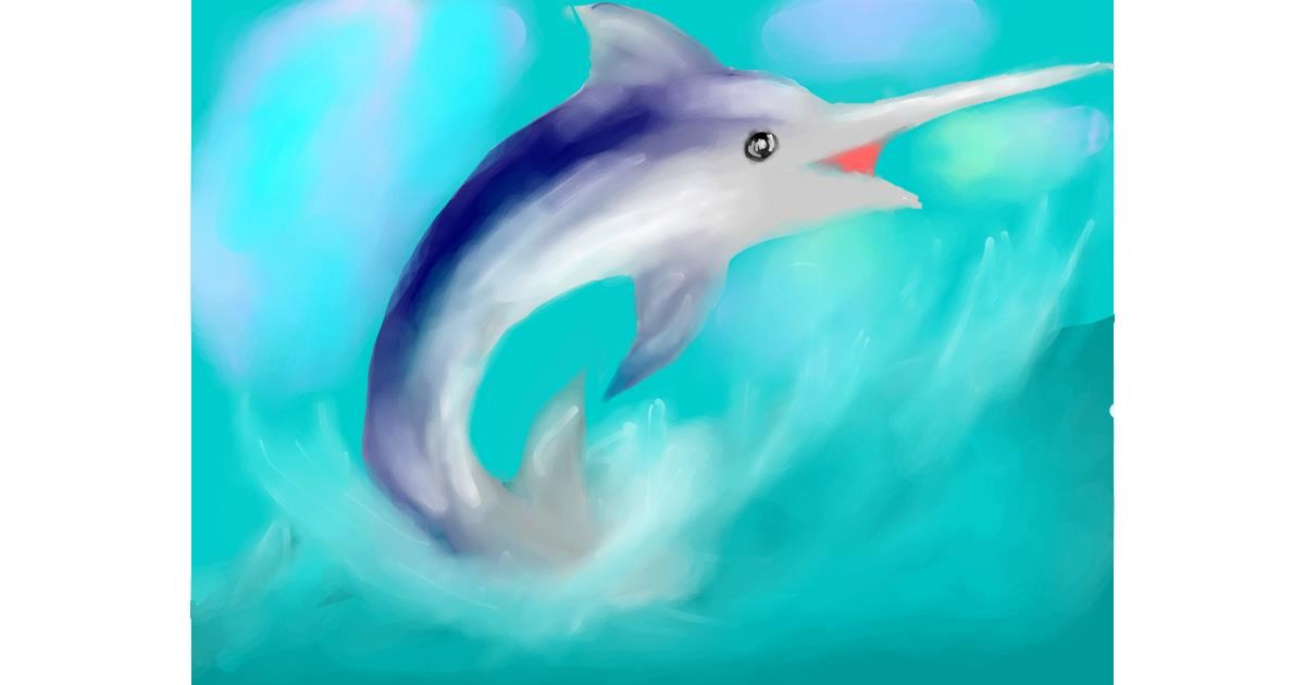 Swordfish drawing by Silver Gun