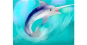 Swordfish drawing by LUCKY GUY