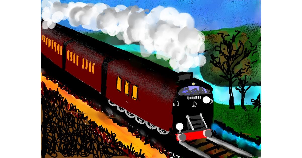 Train drawing by SAM 🙄AKA Margaret