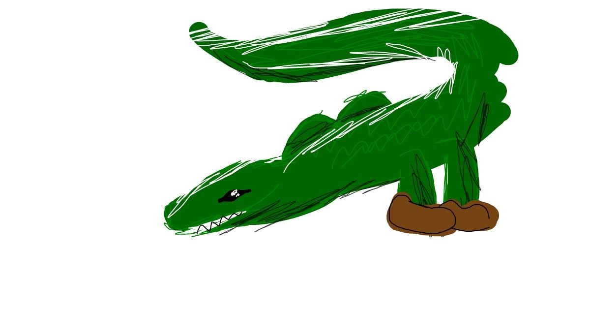 Alligator drawing by torielislove