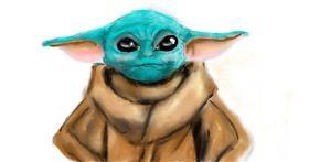 Baby Yoda drawing by Humo de copal