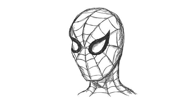 Spiderman drawing by Otter