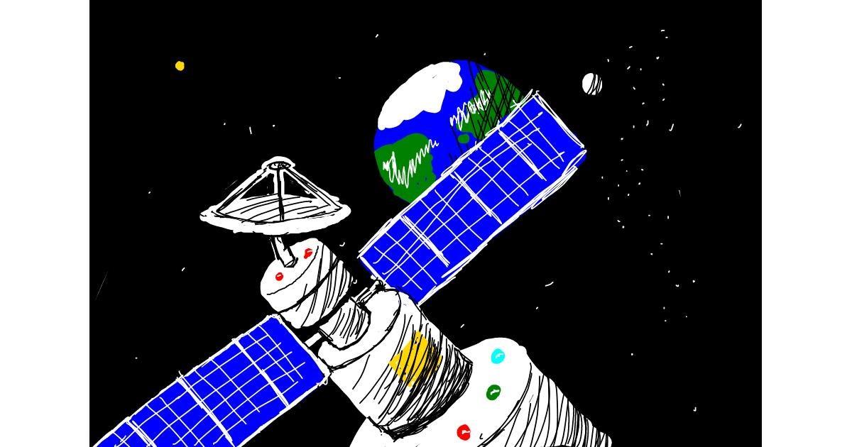 Satellite drawing by madoo