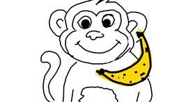 Monkey drawing by Kamie