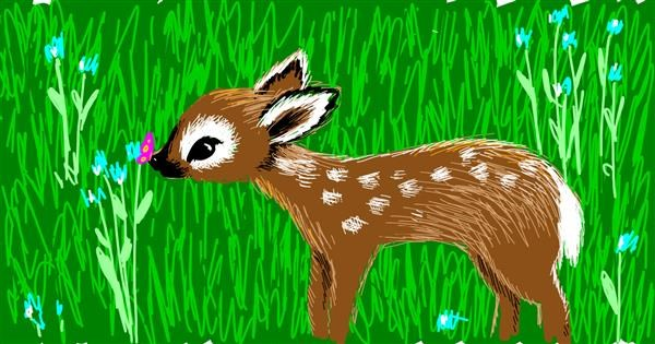 Deer drawing by Corincat