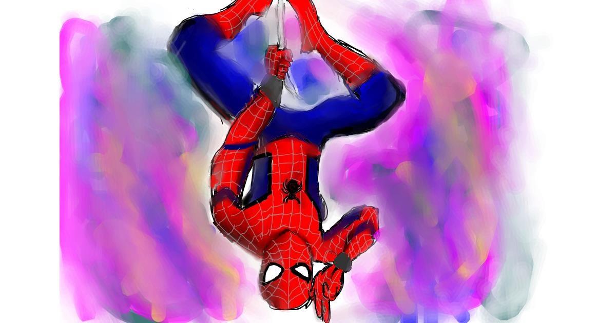 Spiderman drawing by (luna lovegood)