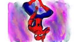 Spiderman drawing by (luna lovegood)