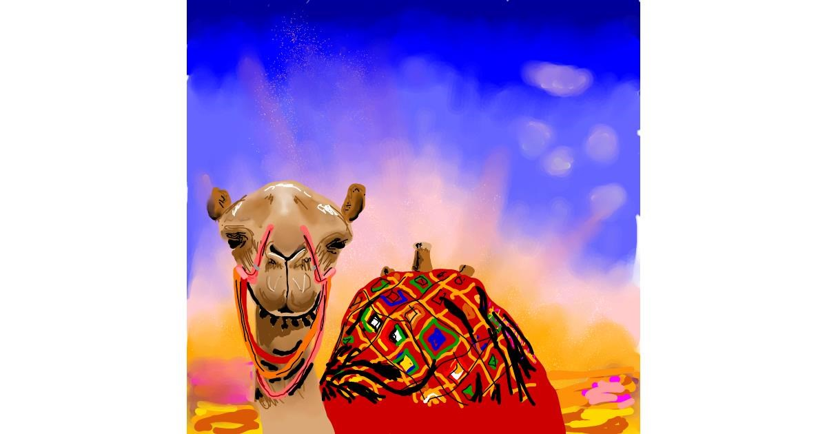 Drawing of Camel by Joze