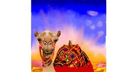 Camel drawing by Joze