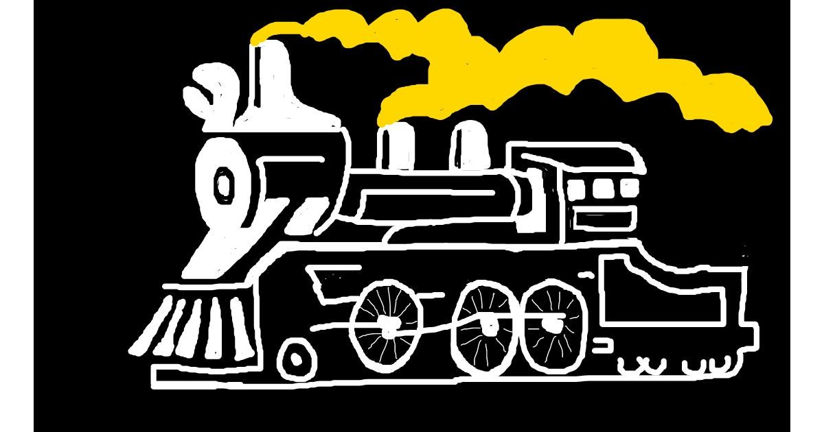 Train drawing by JJ