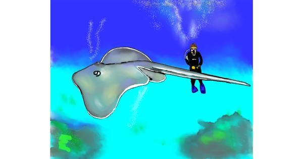 Stingray drawing by Cec