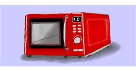 Drawing of Microwave by Debidolittle