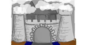 Drawing of Castle by Jennifreis
