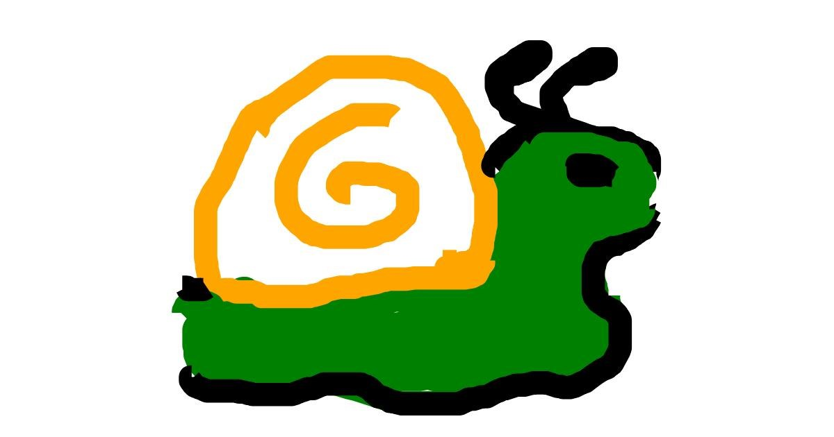 Snail drawing by fab