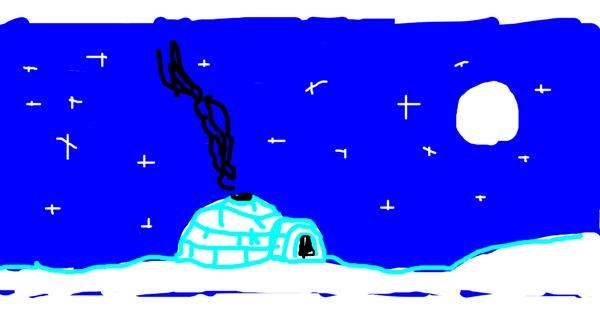 Igloo drawing by Kween Kitty