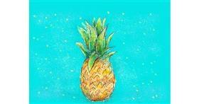 Pineapple drawing by Tara