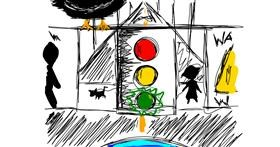 Traffic light drawing by That One Llama