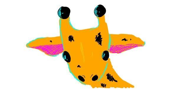 Giraffe drawing by whywhywhywhy