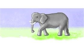Elephant drawing by 👁️ Shei 👁️