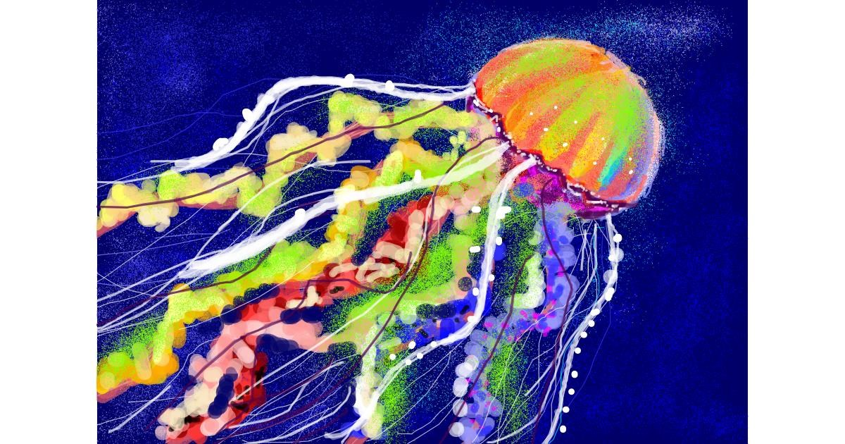 Jellyfish drawing by 𝐓𝐎𝐏𝑅𝑂𝐴𝐶𝐻™