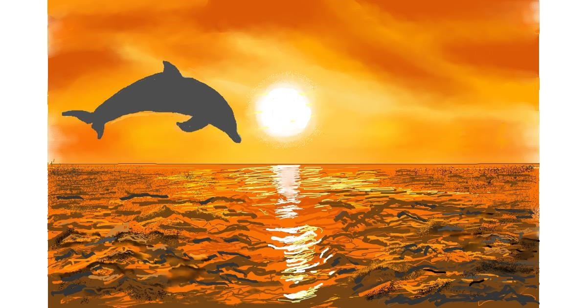 Dolphin drawing by GJP