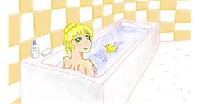 Bathtub drawing by Sam