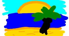 Beach drawing by Pixie